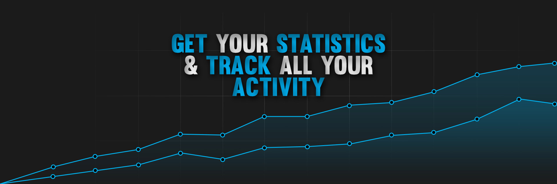 Get your statistics & track all your activity