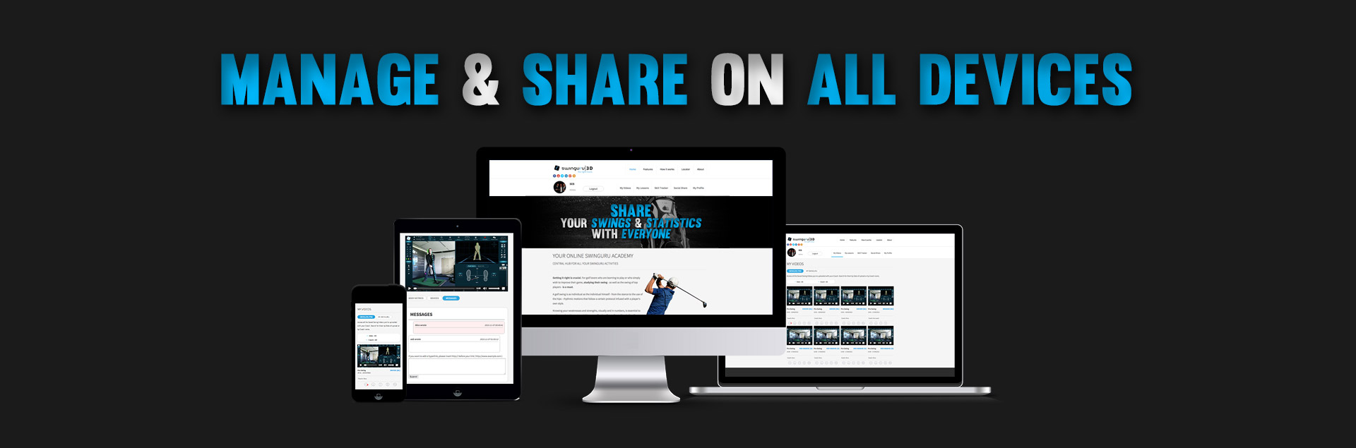 Manage & share on all devices